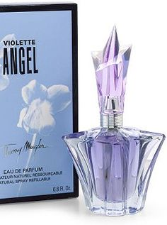 Angel Garden of Stars - Violette Angel by Thierry Mugler:  The violet is thin, sweet and elegant, in union with sweet and woody components of Angel, which sounds very interesting. There are violet leaves and sugar in the top notes, whereas the heart is composed of violets and woody notes. The base contains patchouli and vanilla.