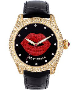 CRYSTAL RED LIPS WATCH