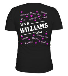 "# B It's A Family Thing Custom Tshirt! .  ""It's a Williams Thing"". Tshirt for people whoes name begining with W. If you love your name and want to show others your great charateristics, you can get this personalized cool shirt for you and your loved one. Let's customize your name on this cool shirt now.Cover your body with this  amazing personalized Valentines Day t-shirts for cute couples.For the front: https://www.teezily.com/name-custom-tshirt >>> Valentines shirts store…"