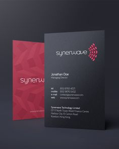 Synerwave Branding by Cosmin Koz. #business #cards #wave
