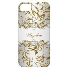 iPhone 5 Silver White Gold Diamond Jewel Image iPhone 5 Case