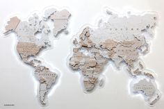 """Maps > World Map """"SnowQueen"""" Buy from e-shop Map Wall Decor, Wall Maps, Austria Map, Map Of Switzerland, Wood World Map, Greece Map, Plywood Boxes, Organic Glass, Wooden Map"""