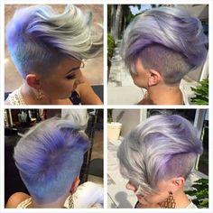 Platinum lavender pixie