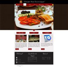 Webdesign layout for Bonfini Restaurant