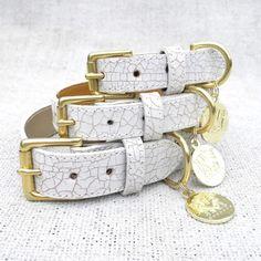 The Madison Avenue Luxury Leather Dog Collar | HOUNDWORTHY