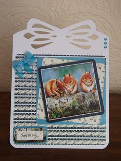 Card made using Pollyanna Pickering British wildlife kit. British Wildlife, Card Ideas, Card Making, Crafting, Kit, Creative, Cards, Style, Swag