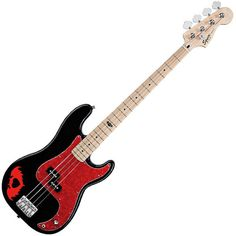Fender Squire Pete Wentz P Bass Jay Sanderson ❤ liked on Polyvore featuring fall out boy and pete wentz