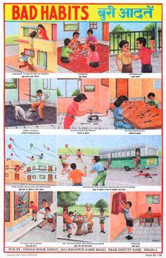 Indian Educational Chart (Bad Habits)