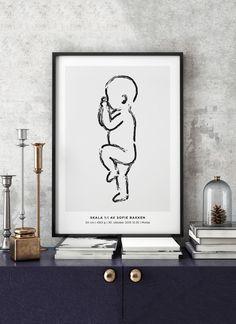Chalk No 01 - Fødselsplakat.no - 2
