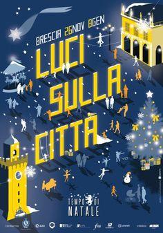 """E' giunto il tempo di festeggiare insieme il Natale e quest'anno Brescia lo farà sotto una luce completamente nuova.""""Luci sulla città"""" è infatti il titolo del palinsesto di quest'anno, che, tra spettacoli e iniziative, vuole porre l'accento sul nuovo impianto di illuminazione pubblica a led, frutto della collaborazione tra il Comune di Brescia e A2A.  Una città ulteriormente riqualificata ospita quindi tutti gli appuntamenti del Na"""