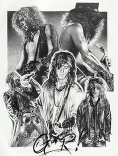 GUNS N ROSES ORIGINAL SKETCH PRINTS - POSTER SIZE - BLACK & WHITE - FEATURES AXL ROSE, SLASH, IZZY STRADLIN, DUFF MCKAGAN, AND STEVEN ADLER. PRINT OF HIGHLY-DETAILED, HANDMADE DRAWING BY ARTIST MIKE DURAN   http://citymoonart.com/guns-n-roses-original-sketch-prints-poster-size-black-white-features-axl-rose-slash-izzy-stradlin-duff-mckagan-and-steven-adler-print-of-highly-detailed-handmade-drawing-by-artist-mike-duran/