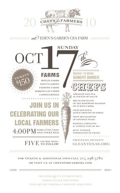 unique Farm to Table invite