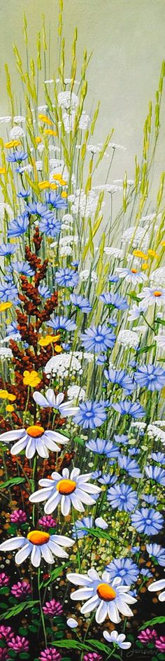 Floral painting by artist Jordan Hicks.