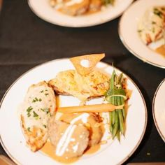 Delicious dinner of sliced beef tenderloin, grilled borless breast of chicken filled with prosciuto and provolone paired with twice baked potaoes and green beans | Brushfire Photography | villasiena.cc