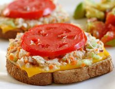 High Protein Tuna Melt via Fitness Oven #healthy