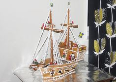 138 best gingerbread outside the box images on pinterest in 2018 a gingerbread pirate ship anyone want to attempt this masterpiece maxwellsz