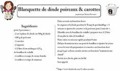 Blanquette de dinde poireaux et carottes