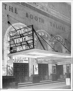 Broadway marquee The Tenth Man Booth Theatre