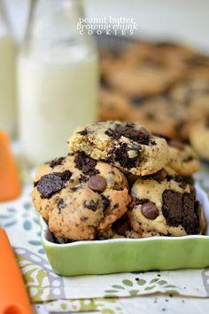 Peanut Butter Brownie Chunk Cookies