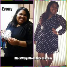 Evony lost 60 pounds | Black Weight Loss Success