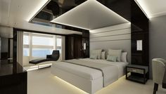 The standard setup for the Sunseeker 131 is five cabins that can accommodate a t. The standard setup for the Sunseeker 131 is five cabins that can accommodate a total of 10 guests, said Sunseeker International Ceiling Design Living Room, Bedroom False Ceiling Design, Luxury Bedroom Design, Bedroom Bed Design, Living Room Designs, Bedroom Ideas, Bedroom Designs, Down Ceiling Design, False Ceiling Ideas