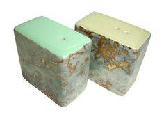 Alison Brent s + p shaker - blue and gold sage and mint set