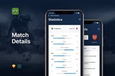 Goal - Football Soccer Live Score UI by Panoply Store on Goals Football, Football Soccer, Page Design, Ui Design, Hector Bellerin, Sports App, Scores, Custom Design, Social Media