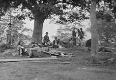 Civil War Photograph Wounded soldiers  After the battle of Spotsylvania, in 1864
