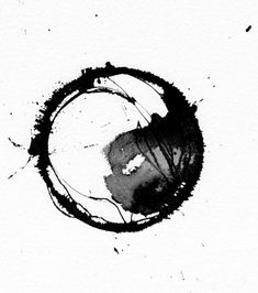 Ying yang watercolor/ink painting by Kitty Sabatier. Yin Yang Tattoos, Zen Painting, Aquarell Tattoos, Carl Jung, Watercolor And Ink, Tattoo Watercolor, Watercolor Design, Ink Art, Abstract Art