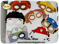 https://flic.kr/p/EtTsb1 | MÁSCARAS - PATRULHA CANINA | Máscaras infantis em feltro. Uma ótima ideia como lembrancinha de aniversário. Informações: keilaartes@gmail.com