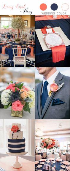 Coral Wedding Receptions, Coral Wedding Decorations, Coral Wedding Themes, Bridal Shower Decorations, Wedding Color Schemes, Blue Wedding, Coral Color Wedding, Dream Wedding, June Wedding Colors