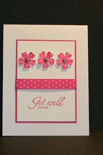 Quick and Simple Get Well Card Stampin' Up! Rubber Stamping    Mother's Day Card Get Well Card Birthday Card
