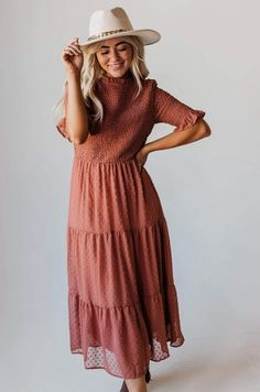 Looking for the right style for your next big event? We have a wide variety of clothes to help. Our trendy, boutique dresses are sure to turn some heads! Wrap Dress Floral, Dot Dress, Long Knit Cardigan, Mauve Dress, Swiss Dot, Color Block Sweater, Boutique Dresses, Cheap Dresses, Smocking