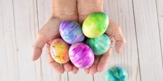 shaving cream easter eggs cream Easter eggs How to Create Magically Marbled Easter Eggs With Shaving Cream
