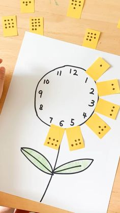 A fun and easy way for preschoolers to practice counting! More creative learning idea on my blog. Kindergarten Learning, Preschool Learning Activities, Preschool Lessons, Preschool Worksheets, Toddler Activities, Preschool Activities, Teaching Kids, Clock Learning For Kids, Counting For Kids