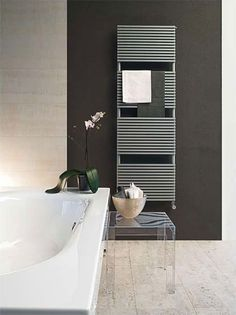 Find out all of the information about the TUBES product: hot water towel radiator / electric / steel / contemporary BASICS: KUBIK . Towel Heater, Towel Radiator, Towel Rail, Radiators, Tube, Bathtub, Relax, Gallery, Bathrooms