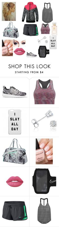 """""""Workout Stuff"""" by abbyvg-99 on Polyvore featuring NIKE, Sweaty Betty, Amanda Rose Collection, Puma, Lime Crime and Tory Burch"""