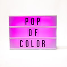 Add some color to your life with our new color-changing marquee lightbox - available only from My Cinema Lightbox! Choose the option of a gradually cycling colo
