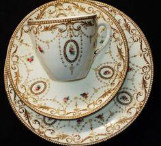 4:00 Tea...Shelley/Foley...New York Fawn...Cameo teacup and saucer trio