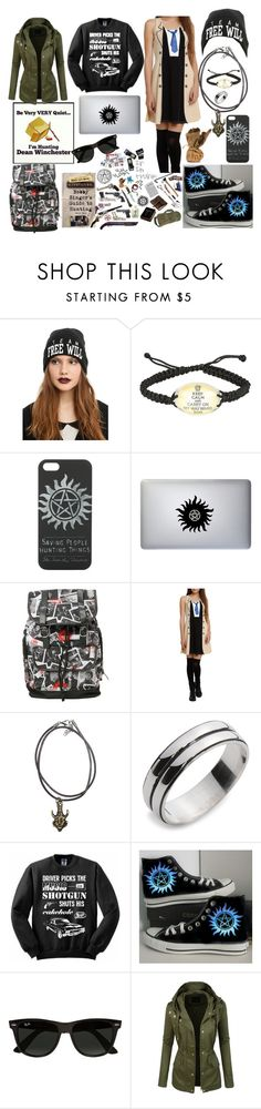 """""""Team Shotgun"""" by ayannnacruz ❤ liked on Polyvore featuring Converse and Ray-Ban"""