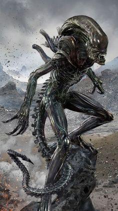 Xenomorph (Alien) - by uncannyknack Alien Vs Predator, Predator Art, Adidas Predator, Xenomorph, Science Fiction, Arte Horror, Horror Art, Giger Art, Hr Giger
