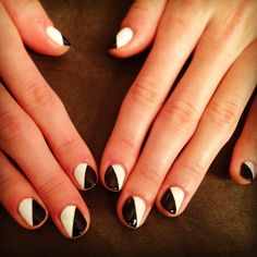 The Simple Split | Community Post: 22 DIY Minimalist Monochrome Manicures