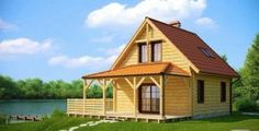 """Casa 11.000 euro """"Lacul Verde""""   Case din lemn -  Castellan"""
