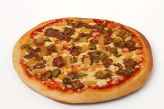 Chicken Hawain Pizza! Amazing blend of Barbequed Chicken, Pineapple and Jalapenos to give you the hawain experience :)