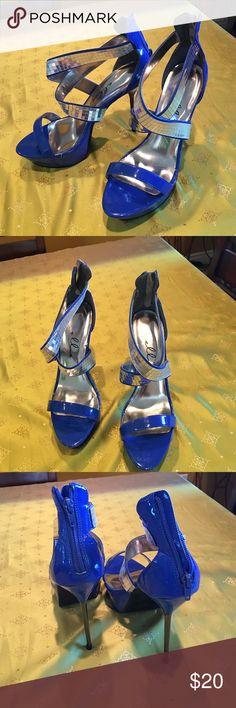 💕Ellie Heel Platforms💕 Ellie 5 inch metallic stiletto platforms. Brand new. Never worn. ellie Shoes Platforms
