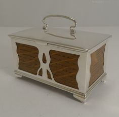 Antique Jewellery Boxes, Art Nouveau Oak And Sterling Silver Trinket Box . A magnificent Art Nouveau trinket box made from solid English Oak and mounted with sterling silver. Jewellery Boxes, Trinket Boxes, Art Nouveau, Sterling Silver, Antiques, Storage, Home Decor, Crates, Antiquities