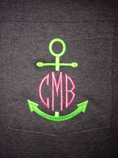 Monogrammed Anchor Pocket T Shirt