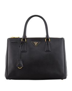 Saffiano Double-Zip Executive Tote Bag, Black (Nero) by Prada at Neiman Marcus. my favorite of all favorites.
