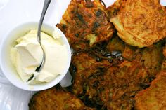 parsnip latkes with horseradish, dill by smitten, via Flickr | Recipes ...