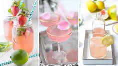 Drinkar med rosévin är vackra och goda. Dessutom passar de perfekt till romantiska tillfällen.